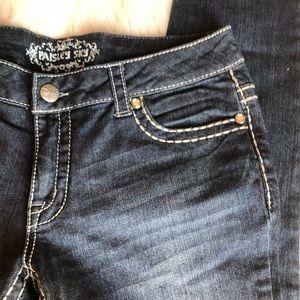 Paisley Sky Jeans - Dark Denim Skinny Jeans 10